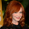 Christina Hendricks Hair - Medium Curls with Bangs