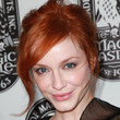 Christina Hendricks Hair - Messy Updo