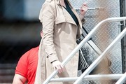 Christina Hendricks Trenchcoat