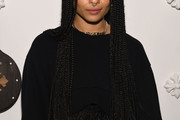 Zoe Kravitz Long Braided Hairstyle