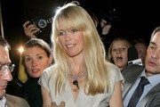 Claudia Schiffer Long Straight Cut with Bangs