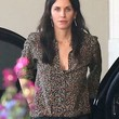 Courteney Cox Clothes - Print Blouse