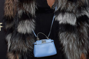 Naomi Campbell Leather Shoulder Bag