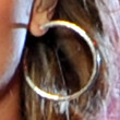 Demi Lovato Jewelry - Sterling Hoops