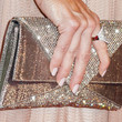 Denise Richards Metallic Clutch