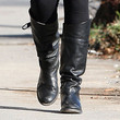 Dianna Agron Shoes - Flat Boots