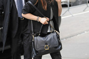 Emilia Clarke Leather Tote