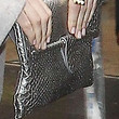 Emma Stone Metallic Clutch