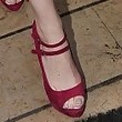 Emma Stone Peep Toe Pumps