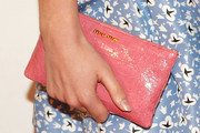 Emma Watson Patent Leather Clutch