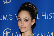 Emmy Rossum Twisted Bun