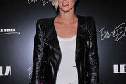 Federica Pellegrini Leather Coat