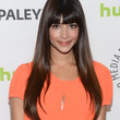 Hannah Simone Hair - Long Straight Cut with Bangs