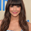 Hannah Simone Hair - Long Wavy Cut with Bangs