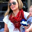 Hilary Duff Patterned Scarf