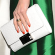 Hilary Swank Buckled Clutch