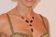 Hilary Swank Gemstone Collar Necklace