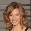 Hilary Swank Hair - Medium Curls with Bangs