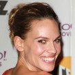 Hilary Swank Hair - Messy Updo