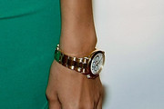Irina Shayk Gold Bracelet Watch
