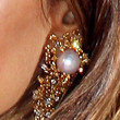 Isabel Lucas Dangling Pearl Earrings