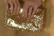 Jaime King Sequined Clutch