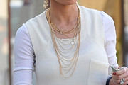 Jaime Pressly Layered Gold Necklace