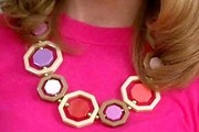Jayma Mays Gold Statement Necklace