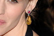 Jennifer Garner Dangling Gemstone Earrings