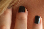Jennifer Hawkins Dark Nail Polish