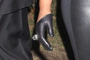 Jennifer Hudson Leather Gloves