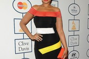 Jennifer Hudson Off-the-Shoulder Dress