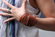 Jennifer Lopez Leather Bracelet
