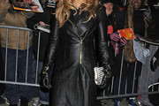 Jennifer Lopez Leather Coat