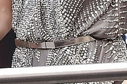 Jennifer Lopez Metallic Belt