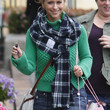Jennifer Love Hewitt Patterned Scarf