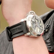 Jesse McCartney Leather Band Chronograph Watch
