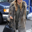 Jessica Hart Clothes - Fur Coat