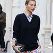 Jessica Hart Clothes - V-neck Sweater