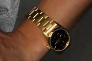 Jessica Szohr Gold Bracelet Watch