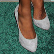 Jessica White Platform Pumps