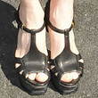 Julianne Moore Platform Sandals