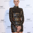 Karolina Kurkova Clothes - Leather Dress
