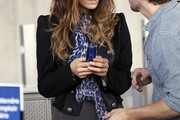 Kate Beckinsale Patterned Scarf