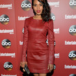 Kerry Washington Clothes - Leather Dress