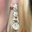 Kirsten Dunst Dangling Diamond Earrings