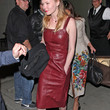 Kirsten Dunst Leather Dress