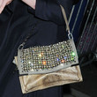 Kirsten Dunst Metallic Shoulder Bag