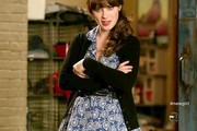 Zooey Deschanel Day Dress