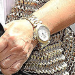 Kris Jenner Gold Bracelet Watch